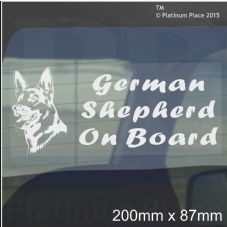 1 x German Shepherd Dog On Board Sticker-Car,Van-Alsatian Window Sign